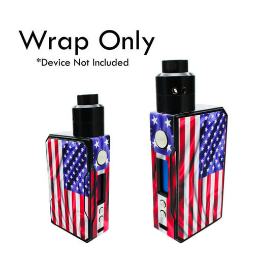 VCG VooPoo Drag Wraps: American Flag- VapeRanger Wholesale eLiquid/eJuice
