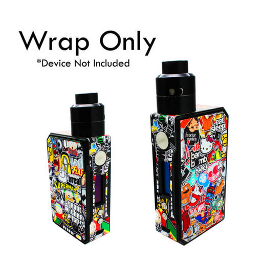 VCG VooPoo Drag Wraps: Sticker Bomb- VapeRanger Wholesale eLiquid/eJuice