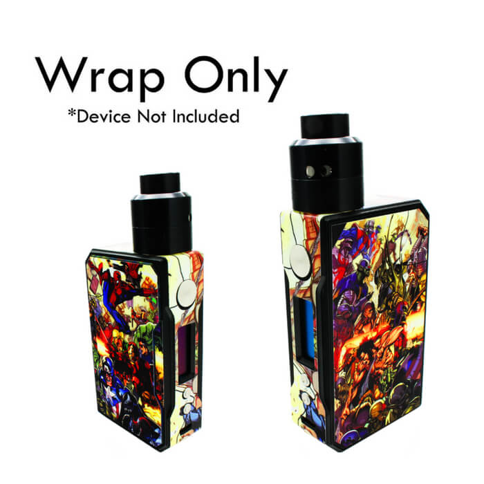 VCG VooPoo Drag Wraps: Superhero Battle Wholesale eLiquid | eJuice Wholesale VapeRanger