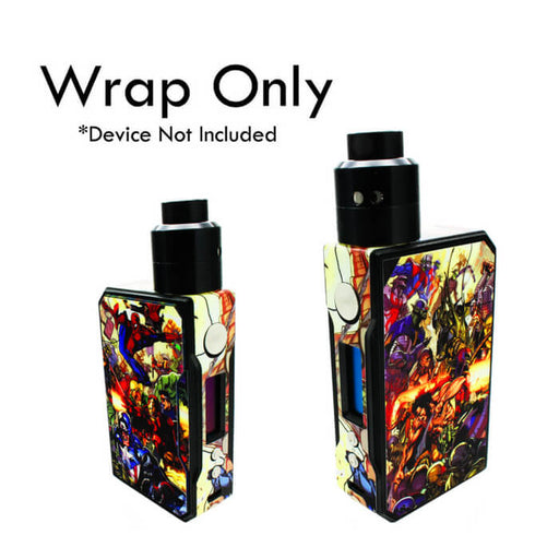 VCG VooPoo Drag Wraps: Superhero Battle- VapeRanger Wholesale eLiquid/eJuice