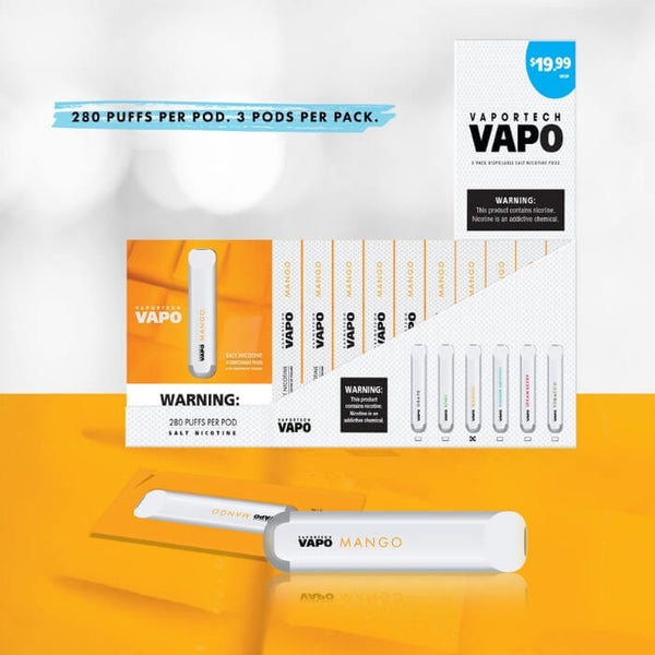 VaporTech Vapo Pods Mango Disposable Pod Device