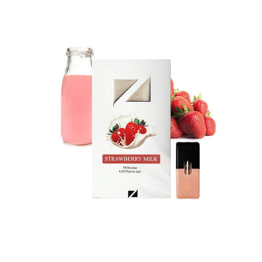 Ziip Pods Strawberry Milk- VapeRanger Wholesale eLiquid/eJuice