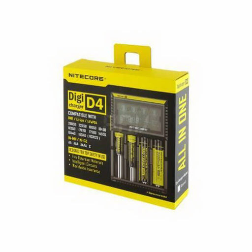 Nitecore D4 Digicharger Battery Charger- VapeRanger Wholesale eLiquid/eJuice