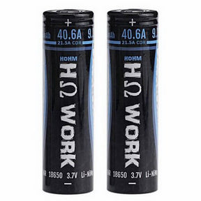 Hohm Tech Hohm Work 18650 2531mAh Battery Cell (2-Pack) eLiquid by Hohm Tech - eJuice Wholesale on VapeRanger.com