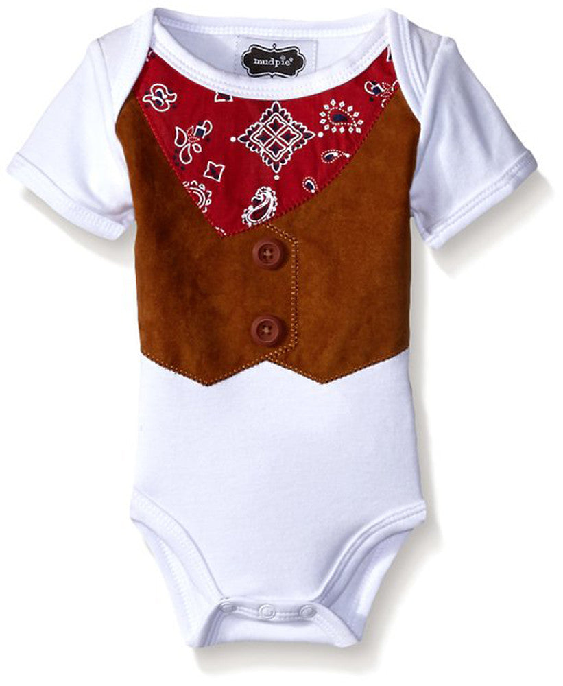 Mud Pie Infant Baby Boys' Cowboy Crawler 0-3 Months - LinaAndMickey