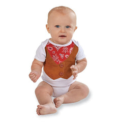 Mud Pie Infant Baby Boys' Cowboy Crawler 0-3 Months