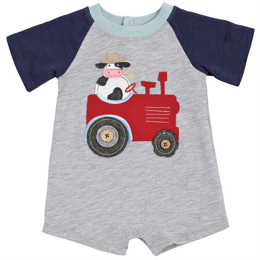 tracktor,cow,farm boys clothes,cute baby boy
