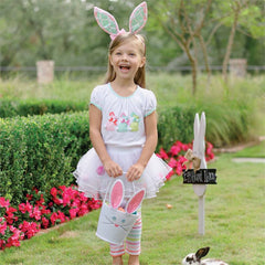 MUD PIE Bunny Skirt Tutu Set Girl 9-12 Months