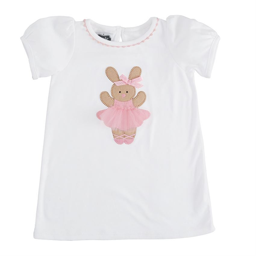 Mud Pie Bunny Ballerina Tunic Girls & Twins 24M/2T-3T