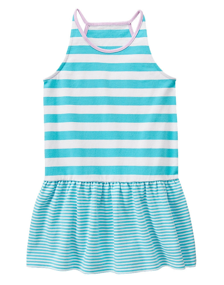 Gymboree Stripped Dress Blue - Toddler Girl 4T