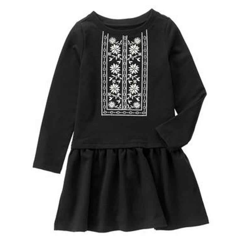 Crazy 8 Embroidered Dress - Girls Size:XS (4)