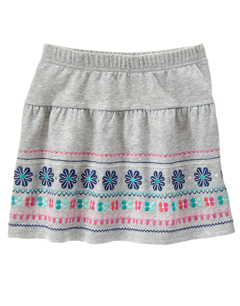 Gymboree Heather Grey Fair Isle Skirt - Girls Size:8