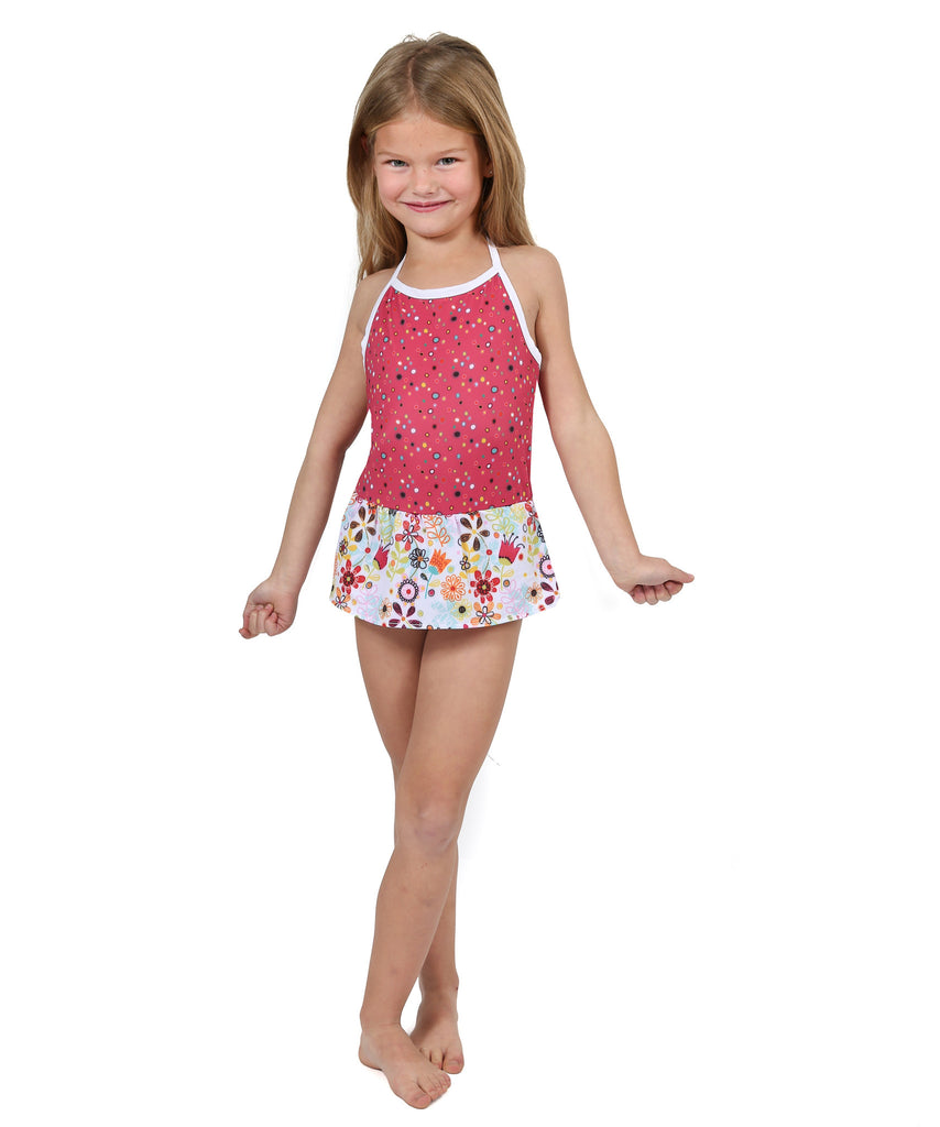 Jelly The Pug Spring 2017 Tulip Belle Skirted Swim Suit -Girls 2T,3T,4,5,6,10,14