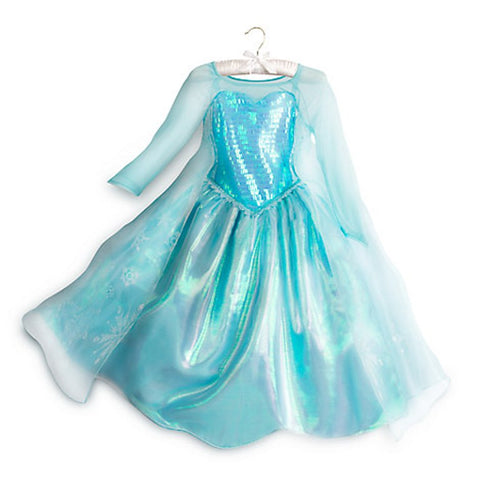 Disney Store Frozen Elsa Costume Dress - Girls SIze: 9/10