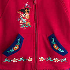 Original Disney Store Elena Poncho Hoodie Red Girls Size:2