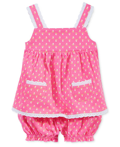First Impressions Baby Girls' Rose Bloomer Set 3-6M, 12M, 18M