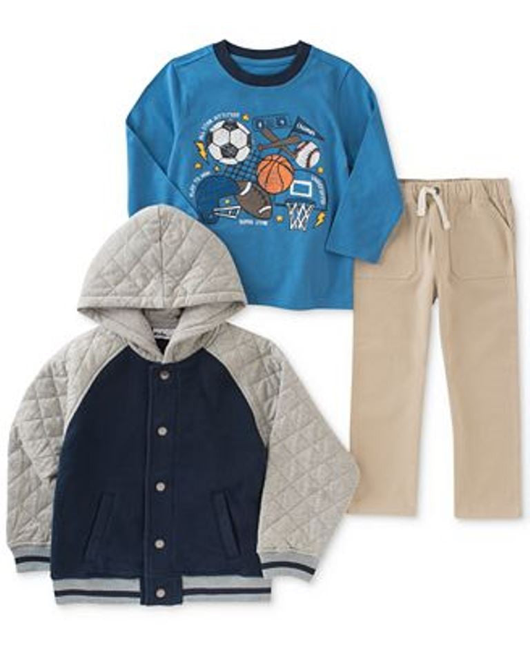 Kids Headquarters Set: Jacket, Top, Pants Footbal, Soccer,Baseball Boys Size: 4T,5