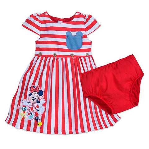 Authentic Disney Store Minnie Mouse Dress Set for Baby Girl Size 18-24 MO
