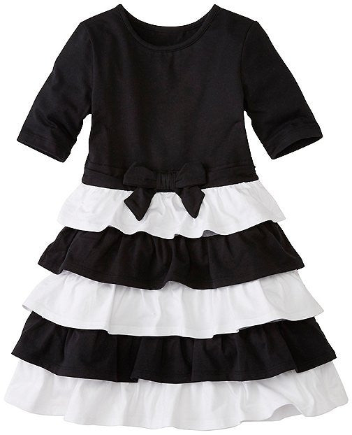 Hanna Andersson Girls Skater Dress With Ruffle Skirt - Girls Size:6-7 (6-8 Years)