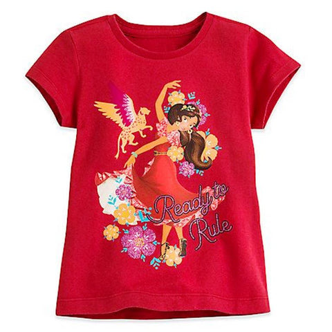 Disney Store Elena Of Avalor: Ready To Rule T Shirt Organic Cotton - Girls 10/12