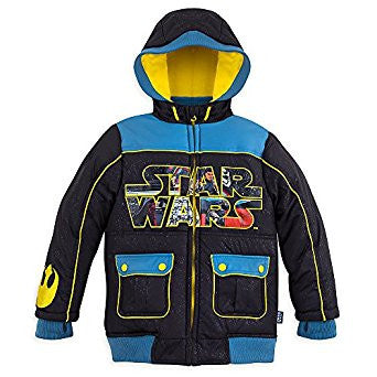 Disney Store Star Wars Boys Comic Warm Winter Jacket Size:2