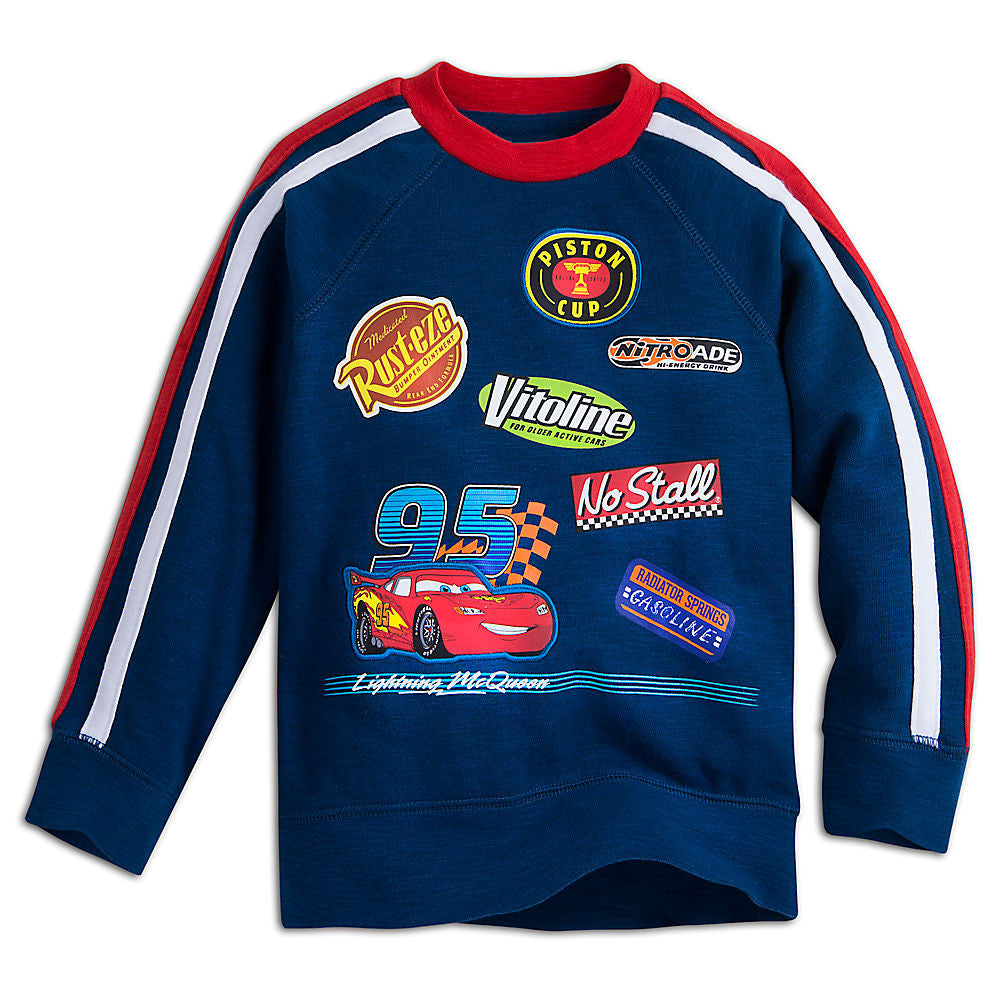 Disney Store Lightning McQueen Sweatshirt For Kids, Disney Pixar Cars Boys/Girls