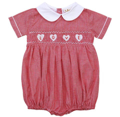 Babeeni Cute Heart Smocked Baby Boy/Girl Bubble Romper 6m,9m,18m,2T MSRP:$48 - LinaAndMickey