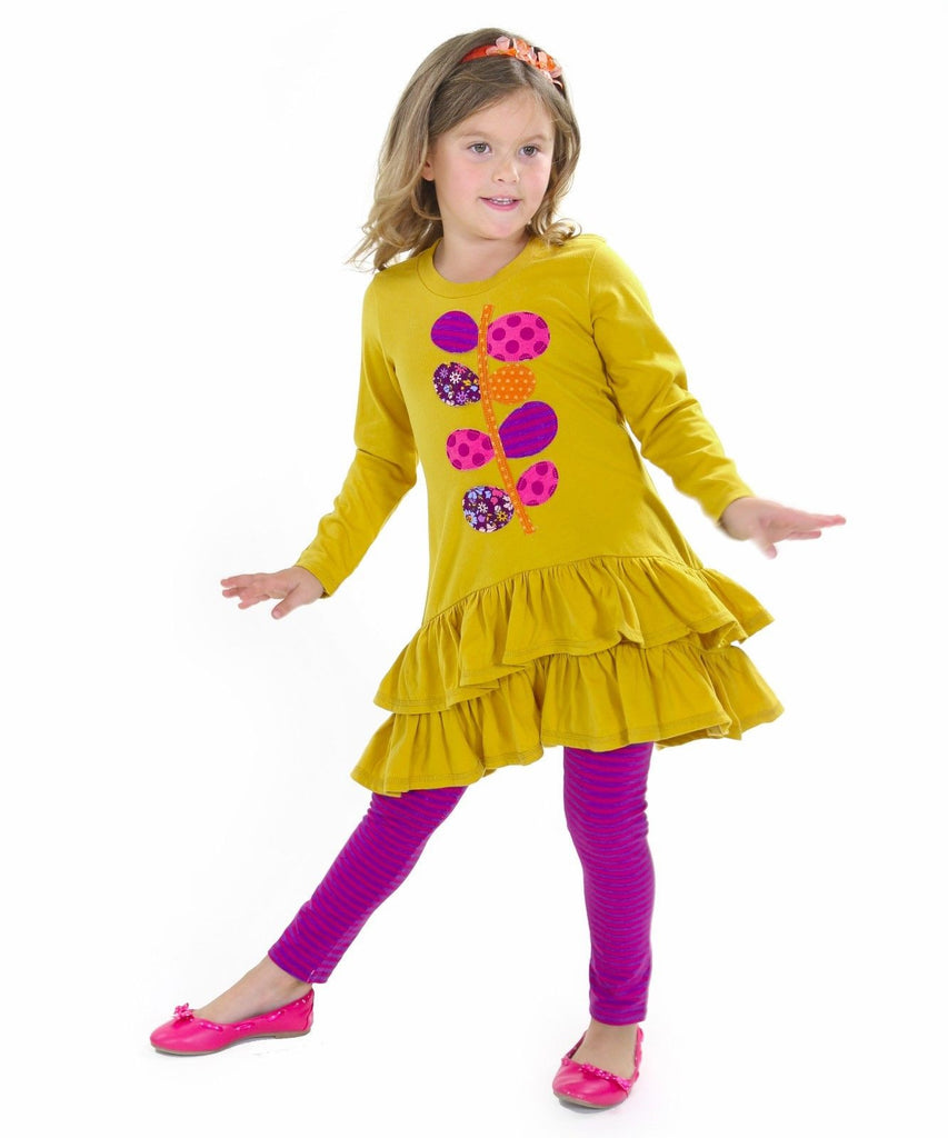 Jelly The Pug Fall 2016 Ruth Mustard Knit Set Toddler & Girls RRP:$69 - LinaAndMickey