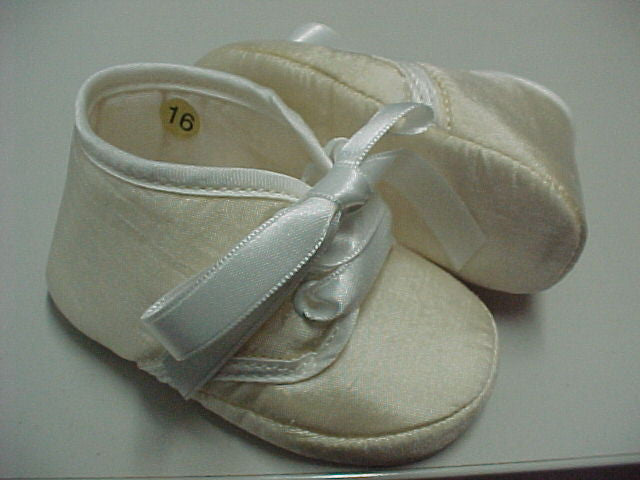 ABA Baby Infant Shoes Made Of Satin With Low Band 4-7M MSRP:$78 Made in Italy - LinaAndMickey