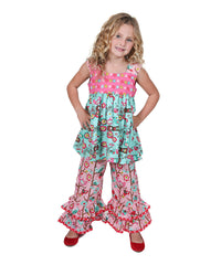 Jelly The Pug Teal Love Birds Lily Tunic & Pants-Infant,Toddler & Girls MSRP:$69 - LinaAndMickey