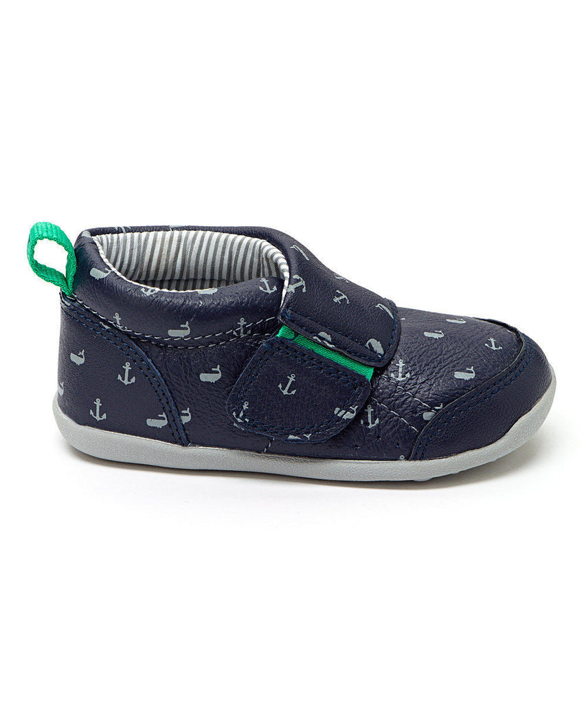 Carter`s Boy Navy Charlie Every Step Stage 3 Leather Bootie Size:4,4.5, 5, 5.5,6 - LinaAndMickey