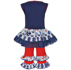 AnnLoren Seaside Nautical Crab Girls Outfit +Matching 18