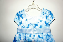 Gymboree Tender Blue Flowers Dress Special Occasion Party,Birthday Size:4T - LinaAndMickey