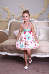 Bonny Billy Embroidered Flower  Dress Toddler & Girls Age:3 - 12 Years