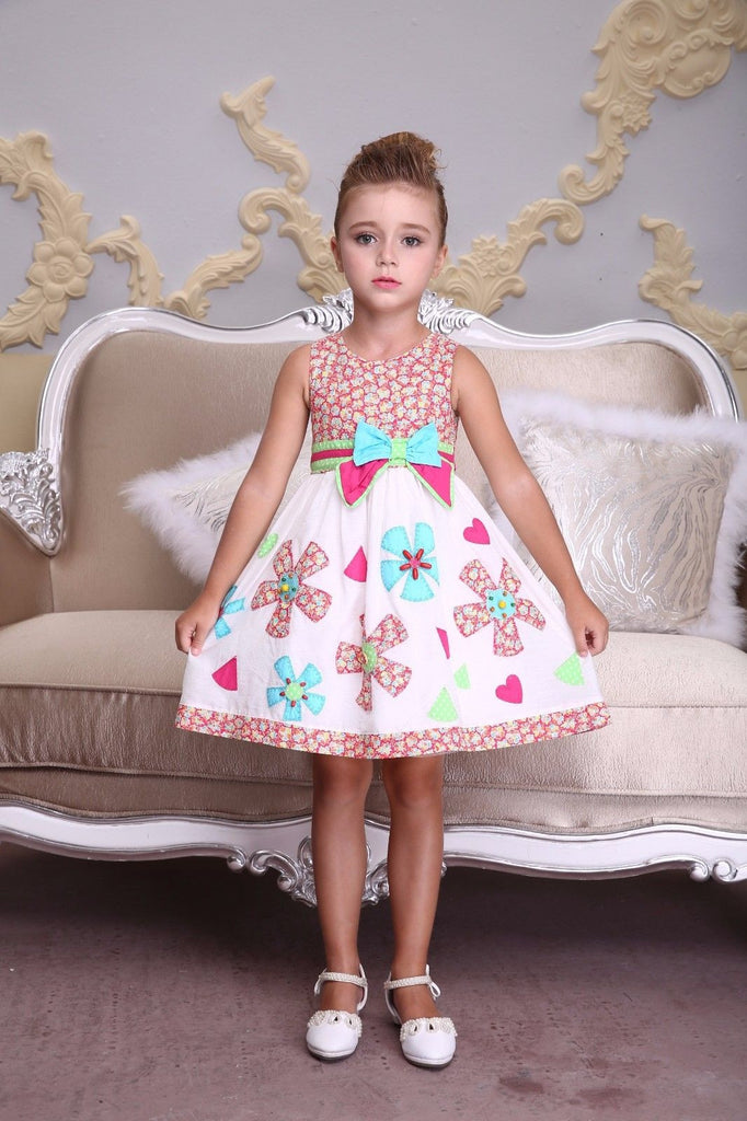 Bonny Billy Embroidered Flower  Dress Toddler & Girls Age:3 - 12 Years MSRP:$65 - LinaAndMickey