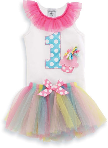 MUD PIE I'M 1 TUTU BABY GIRL BIRTHDAY PARTY SET SIZE:12-18M - LinaAndMickey