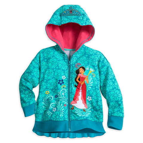 Disney Store Elena of Avalor Hooded Sweatshirt For Girls Size:2