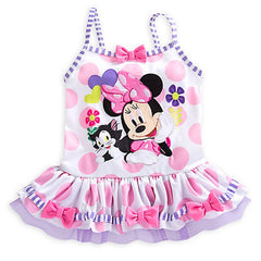 Disney Store Minnie Mouse & Cat Deluxe Swimsuit for Girls - 2-Piece - Size:5/6