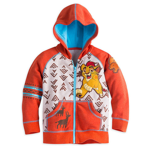 Disney Store Lion King: Simba The Lion Guard Zip Hoodie - Boys Size:2