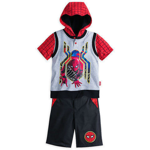 Disney Store Spider-Man Short Set for Boys 5/6, 9/10