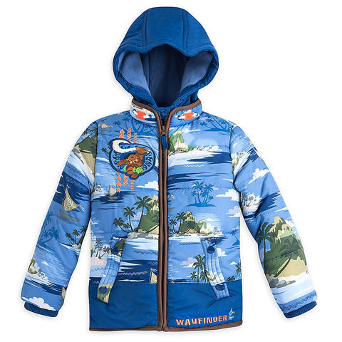 Genuine Disney Store Fall Winter Maui Puffer Jacket - Boys 10
