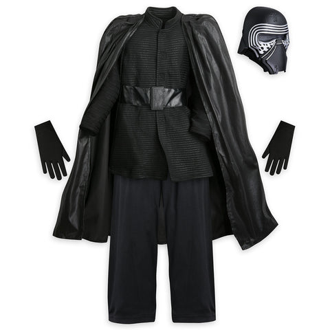 Disney Store Kylo Ren Costume for Kids - Star Wars: The Last Jedi Boy Size:5/6