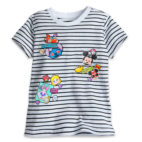 Authentic Disney Store Disney Emoji Tee for Girls Size:10/12