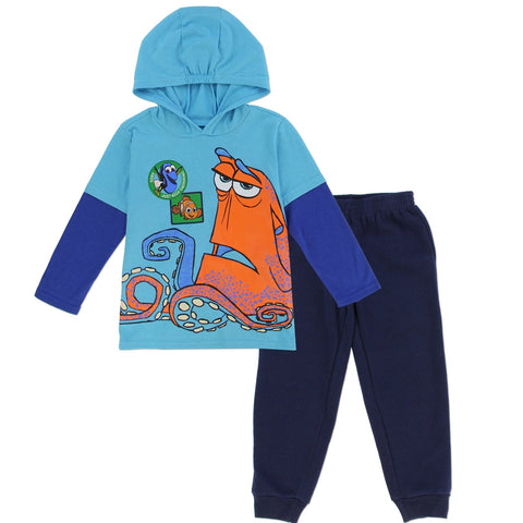 Pixar FINDING DORY BOYS 2T TODDLER 2-PIECE HOODED PANT SET