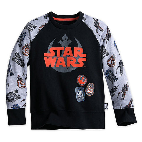 Authentic Disney Store Star Wars Sweatshirt for Boys Black Size:7/8