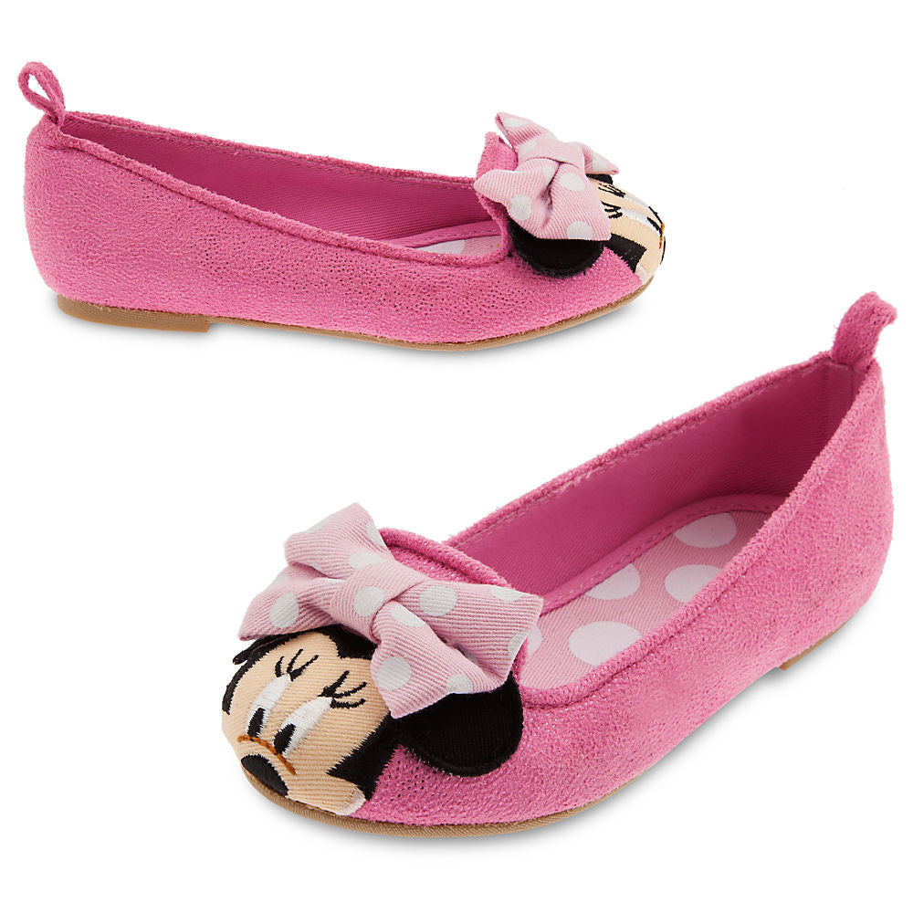 Genuine Disney Store Girls Minnie Mouse Flat Shoes Pink US:10, EU:27, UK:9