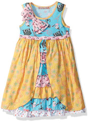 Jelly the Pug 2017 Little Girls' Spring in Paris Floral Hannah Dress Size:5