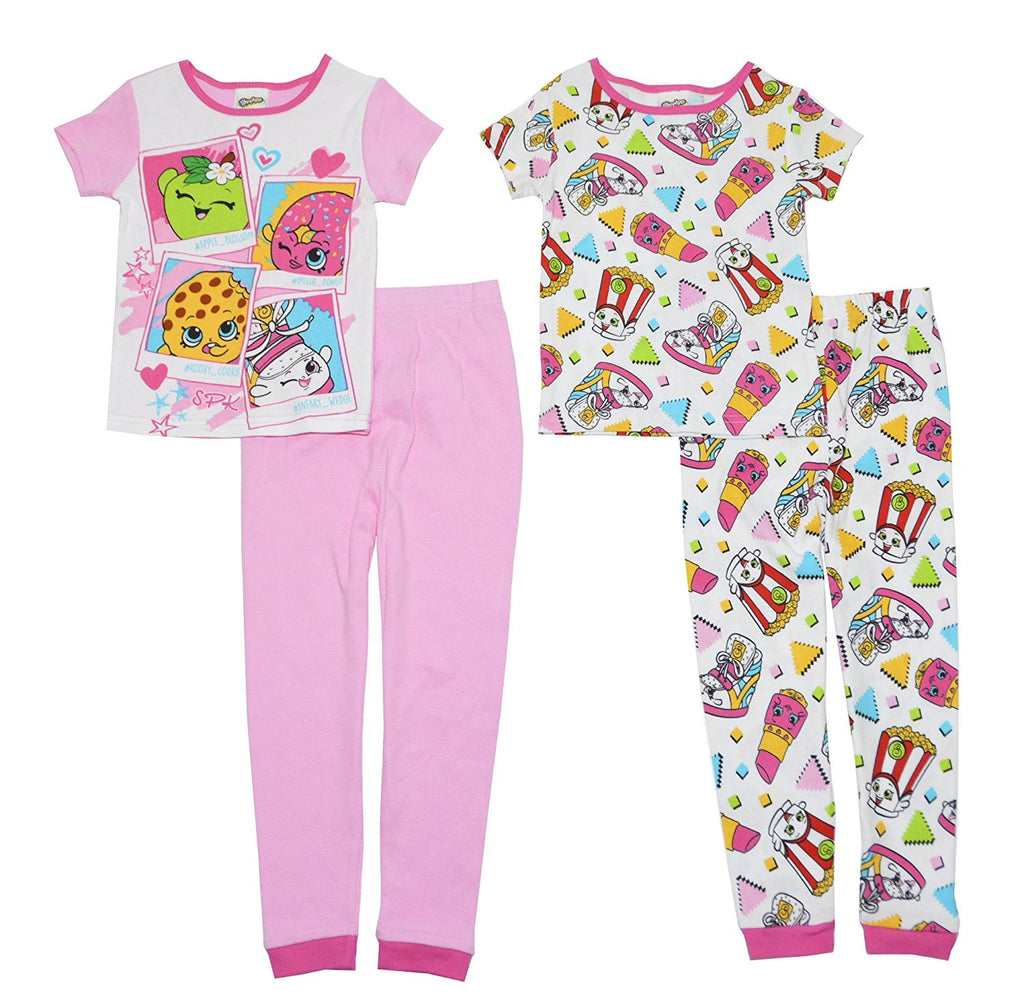 Shopkins Girls Keep Shopping 4- Piece Pajama Set - Girls Size:8