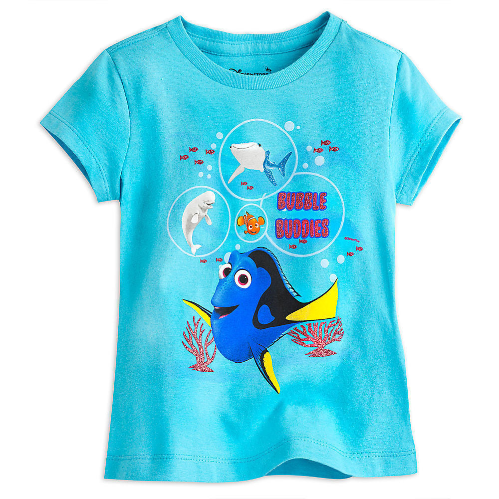 "Disney Store Big Girls Finding Dory ""Bubble Buddies"" Tee - Girls - Size:2/3"