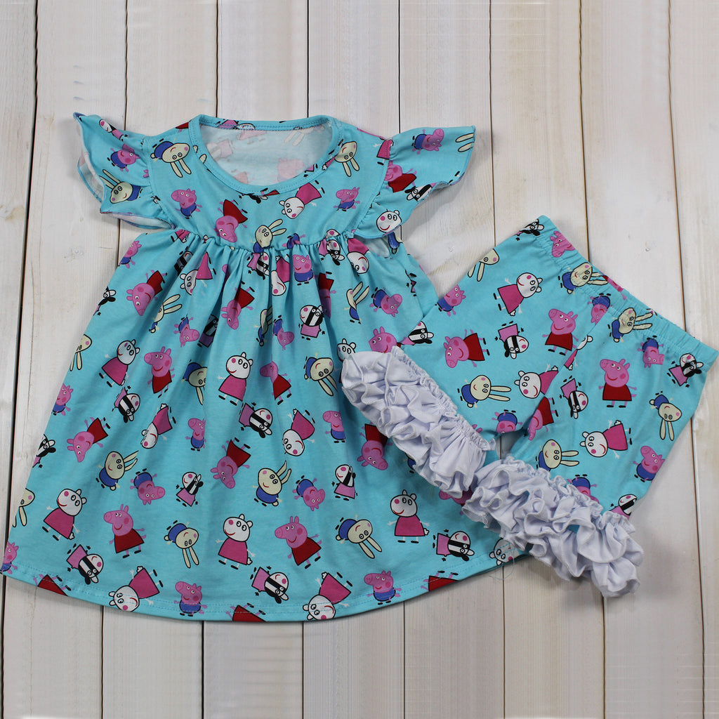 Peppa Pig & Ffriends:Tunic & Shorts Set - Baby, Toddler,Girls 18M, 2T, 3T, 4T,5T